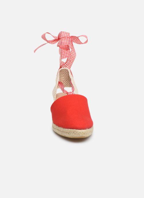 Espadrilles Georgia Rose Deltia Rouge vue portées chaussures