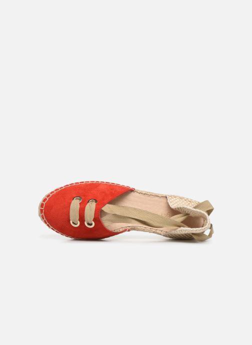 Scarpe di corda Georgia Rose Deneza Rosso immagine sinistra