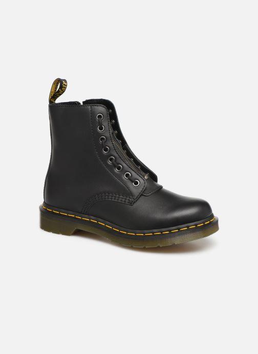 a1a1b1cab91 Bottines et boots Dr. Martens 1460 Pascal Front Zip Noir vue détail paire