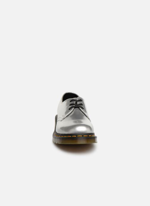 Silver Drmartens 43rl5aj Vegan Metallic Lacets À Chaussures W 1461 WHEDYe9b2I