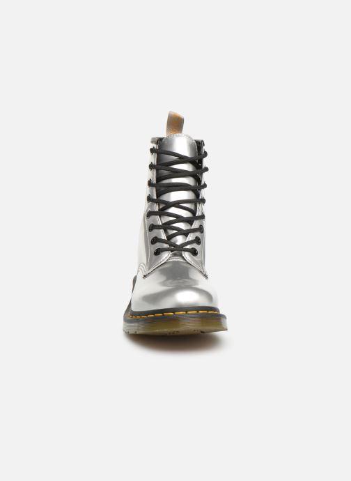 Stiefeletten & Boots Dr. Martens 1460 VEGAN W silber schuhe getragen