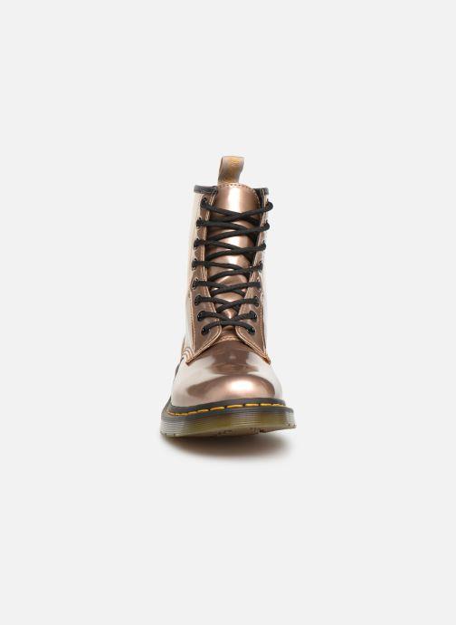 Stiefeletten & Boots Dr. Martens 1460 VEGAN W rosa schuhe getragen