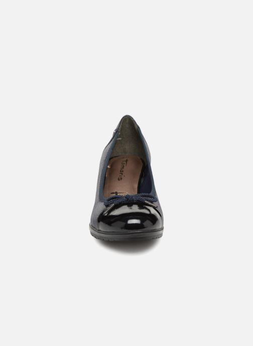 Escarpins Tamaris 22461 Bleu vue portées chaussures