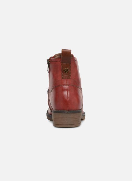 Bottines et boots Tamaris 25116 Rouge vue droite