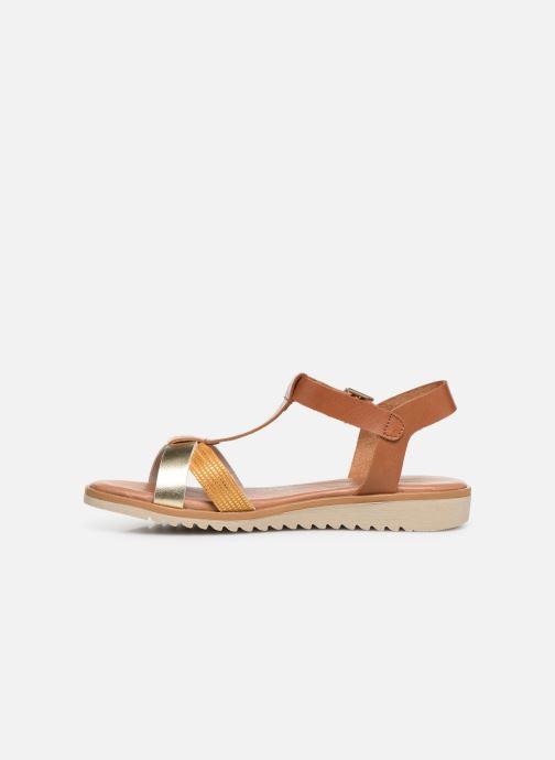 Sandales et nu-pieds Georgia Rose Diandra Soft Marron vue face
