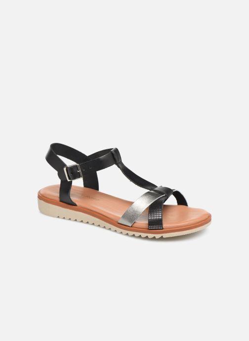 Sandales et nu-pieds Georgia Rose Diandra Soft Noir vue détail/paire