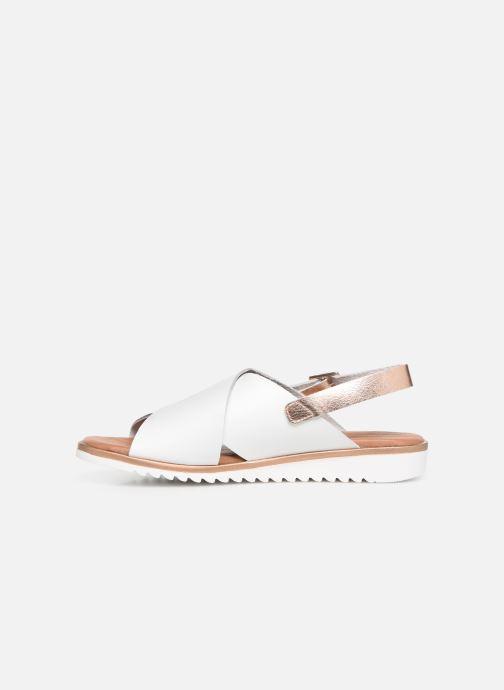 Sandales et nu-pieds Georgia Rose Diacroisa Soft Blanc vue face