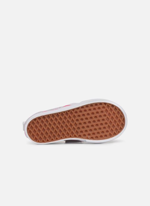 Baskets Vans Slip-On V Blanc vue haut