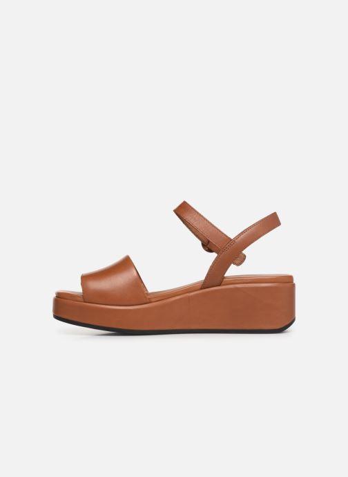 Sandales et nu-pieds Camper Misia 10 Marron vue face