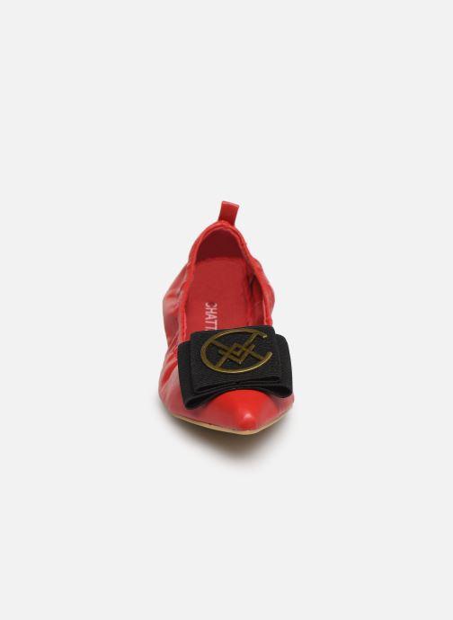 Ballerines Chattawak GLYCINE Rouge vue portées chaussures