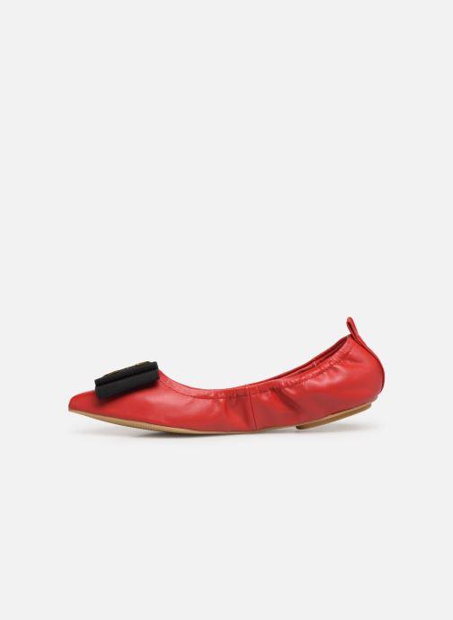 Ballerinas Chattawak GLYCINE rot ansicht von vorne
