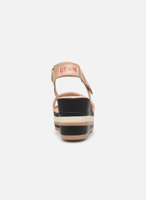 Sandalen Chattawak PAVOT braun ansicht von rechts