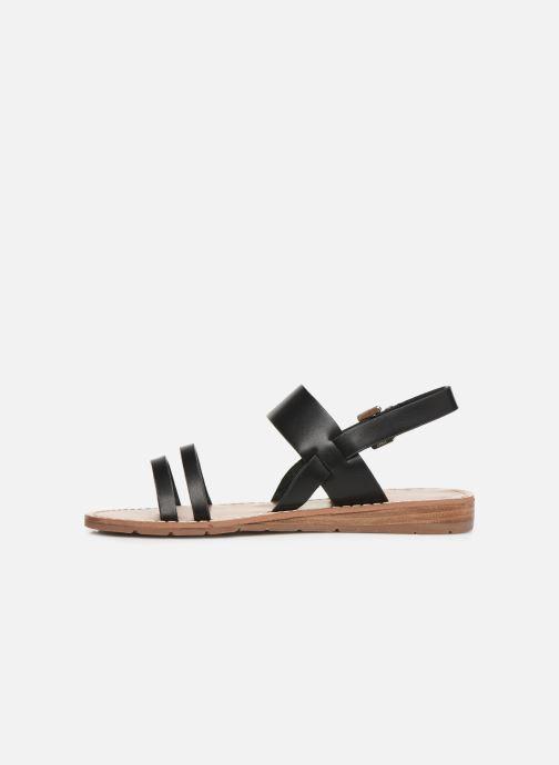 Sandalen Chattawak RUBIS schwarz ansicht von vorne
