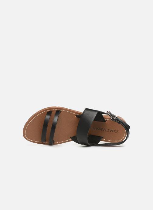 Sandali e scarpe aperte Chattawak RUBIS Nero immagine sinistra