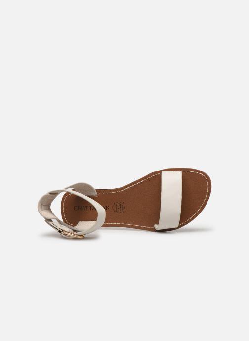 Sandales et nu-pieds Chattawak SABINE Blanc vue gauche