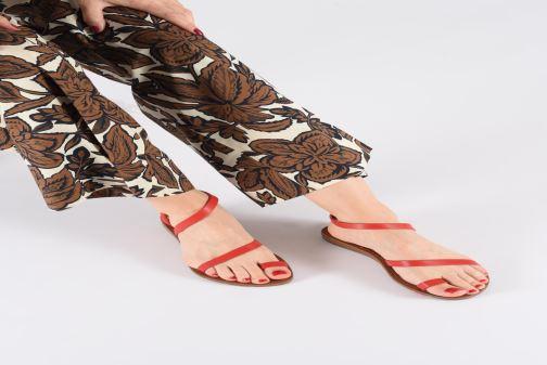 Sandales et nu-pieds Chattawak SALOME Argent vue bas / vue portée sac