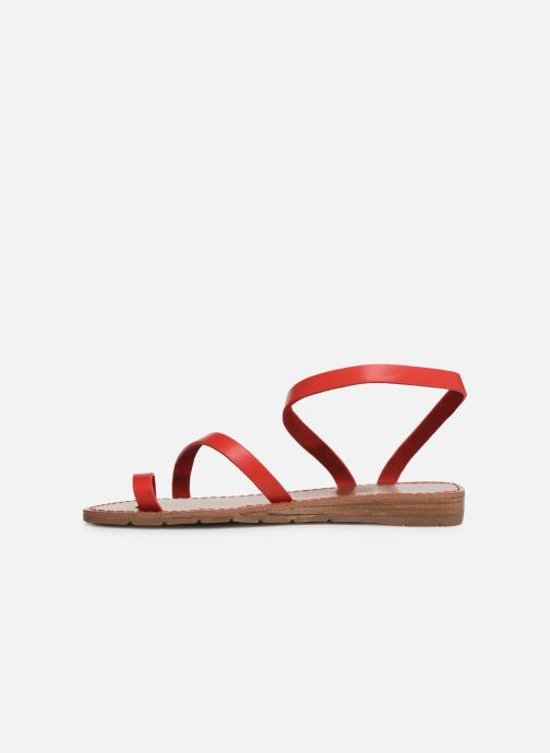 Nu pieds Chattawak Sandales Rouge Salome Et 5AL34Rjq