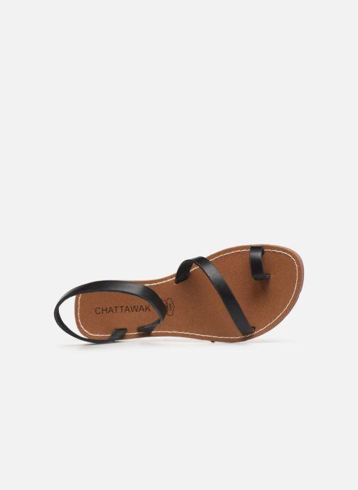 Sandales et nu-pieds Chattawak SALOME Noir vue gauche