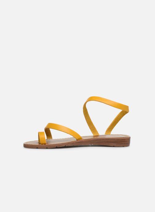 Sandalen Chattawak SALOME gelb ansicht von vorne