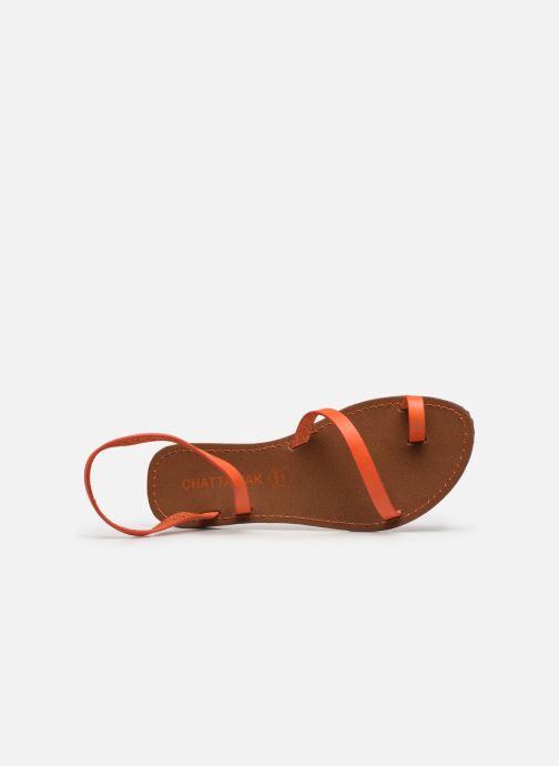 Sandales et nu-pieds Chattawak SALOME Orange vue gauche