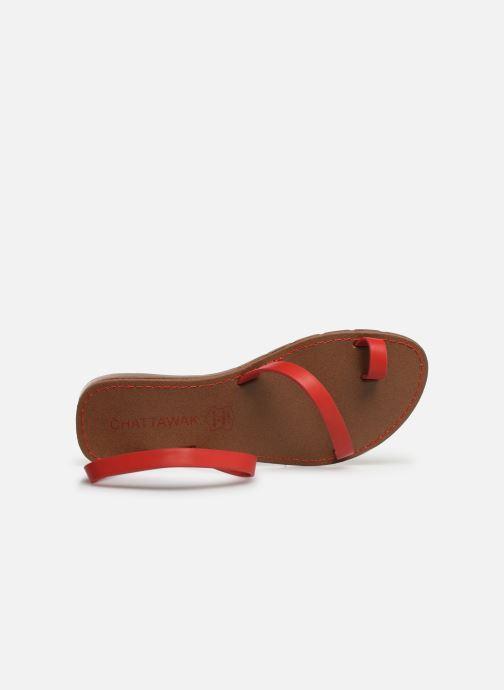 Sandalen Chattawak SALOME rot ansicht von links