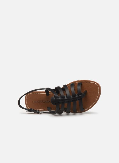 Sandales et nu-pieds Chattawak SHIRLEY Noir vue gauche