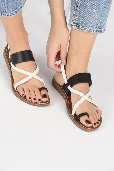 Sandalen Chattawak VALERIANE schwarz ansicht von unten / tasche getragen