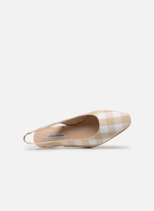 Zapatos de tacón About Arianne Galo Beige vista lateral izquierda
