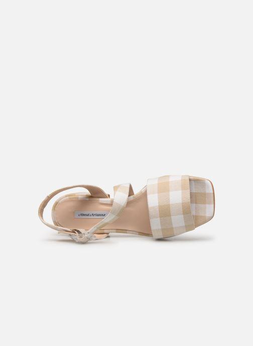 Sandales et nu-pieds About Arianne Selva Clear Beige vue gauche