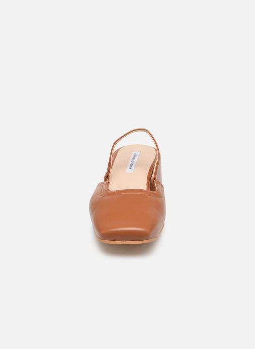 Escarpins About Arianne Estela Marron vue portées chaussures