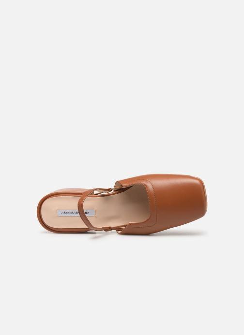 Zapatos de tacón About Arianne Estela Marrón vista lateral izquierda