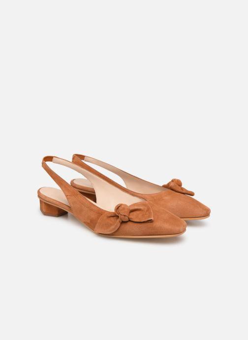 Sandales et nu-pieds About Arianne Galo Bow Marron vue 3/4