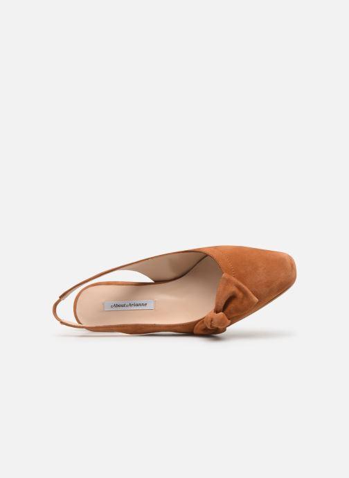 Sandales et nu-pieds About Arianne Galo Bow Marron vue gauche