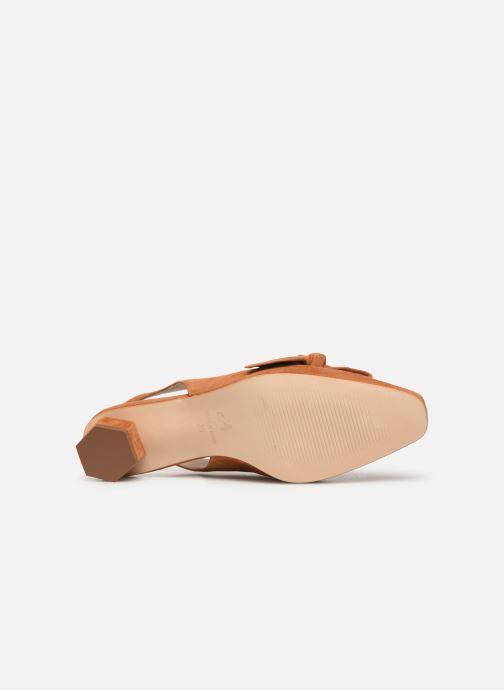 Sandales et nu-pieds About Arianne Galo Bow Marron vue haut