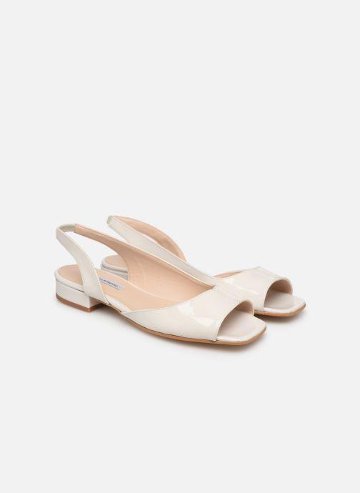 Sandales et nu-pieds About Arianne Planes Blanc vue 3/4