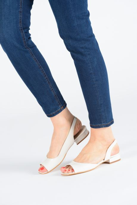 Sandales et nu-pieds About Arianne Planes Blanc vue bas / vue portée sac