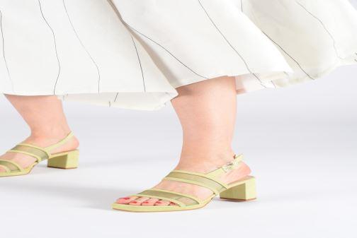 Sandales et nu-pieds About Arianne Pruna Mesh Vert vue bas / vue portée sac