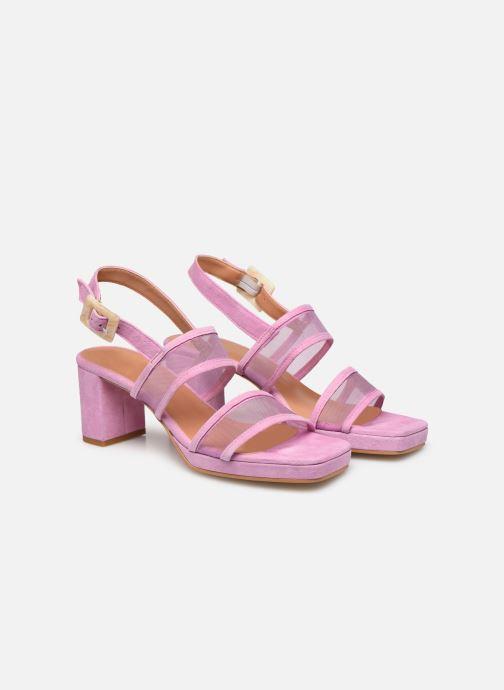 Sandales et nu-pieds About Arianne Pruna Mesh Violet vue 3/4