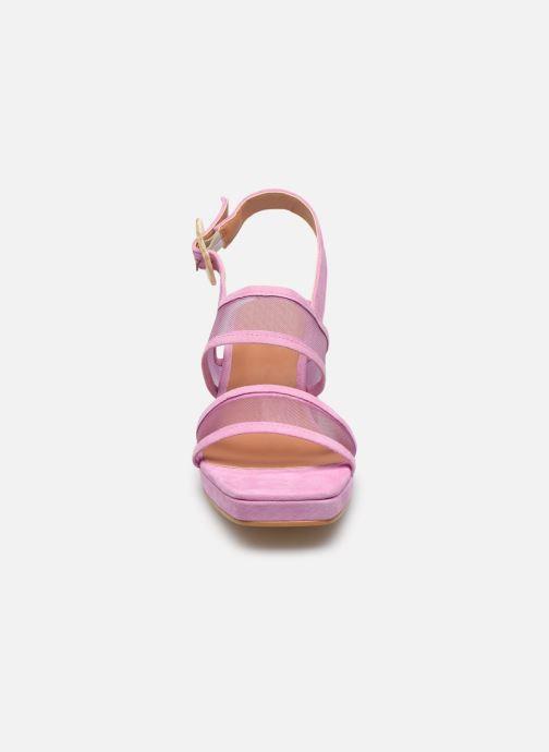 Sandali e scarpe aperte About Arianne Pruna Mesh Viola modello indossato