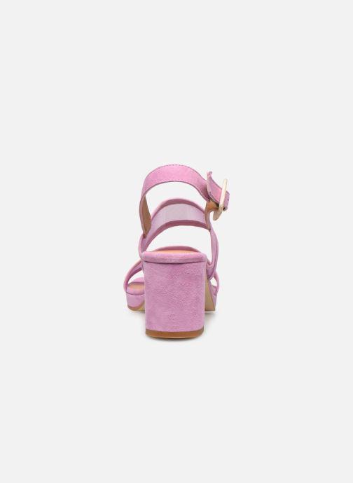 Sandales et nu-pieds About Arianne Pruna Mesh Violet vue droite