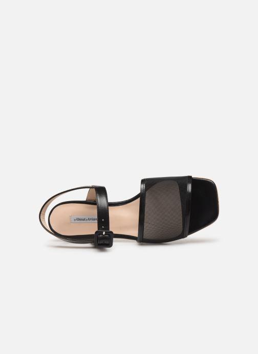 Sandales et nu-pieds About Arianne Marini Mesh Noir vue gauche