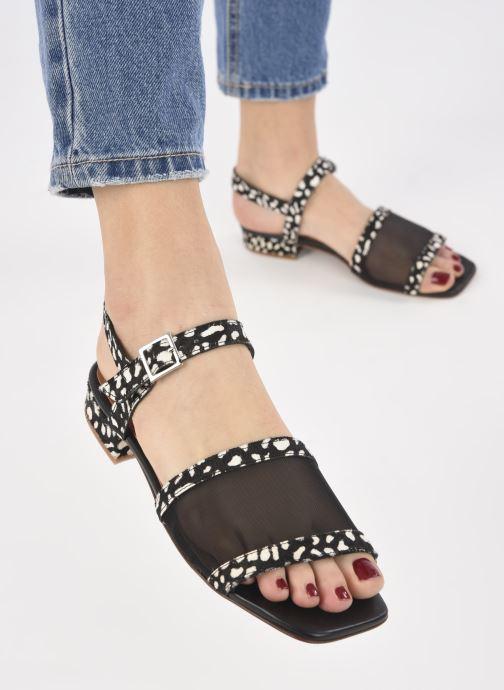 Sandalen About Arianne Marini Mesh schwarz ansicht von unten / tasche getragen