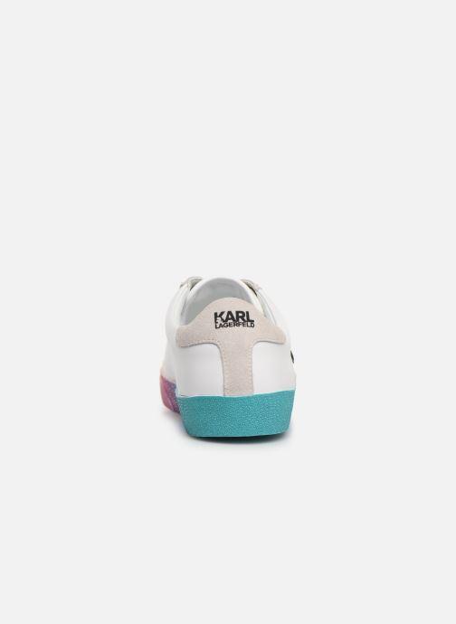 Baskets KARL LAGERFELD Skool II Karlifornia Ikon Lace Blanc vue droite