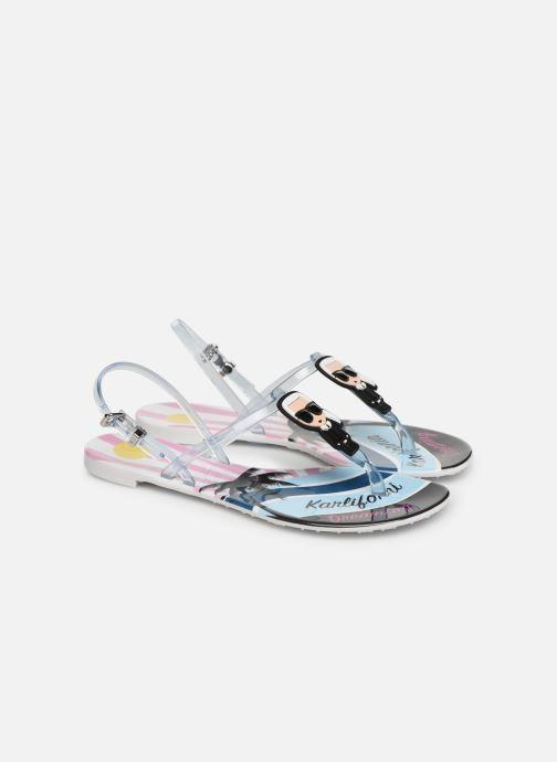 Sandales et nu-pieds KARL LAGERFELD Jelly Karlifornia Ikon Sling Multicolore vue 3/4