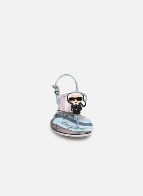 Sandales et nu-pieds KARL LAGERFELD Jelly Karlifornia Ikon Sling Multicolore vue portées chaussures