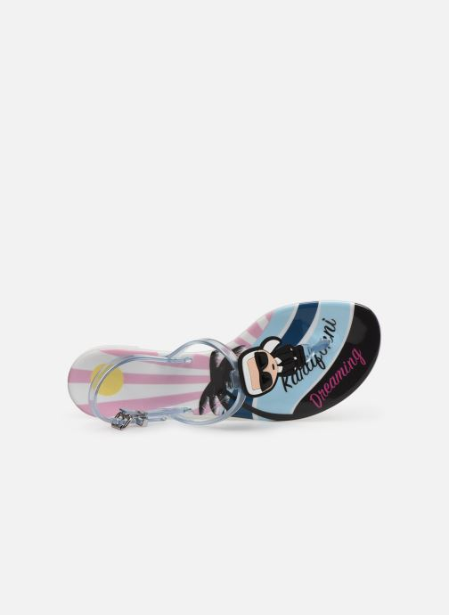 Sandales et nu-pieds KARL LAGERFELD Jelly Karlifornia Ikon Sling Multicolore vue gauche
