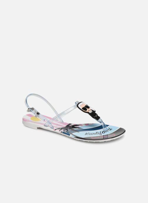 Sandales et nu-pieds KARL LAGERFELD Jelly Karlifornia Ikon Sling Multicolore vue détail/paire