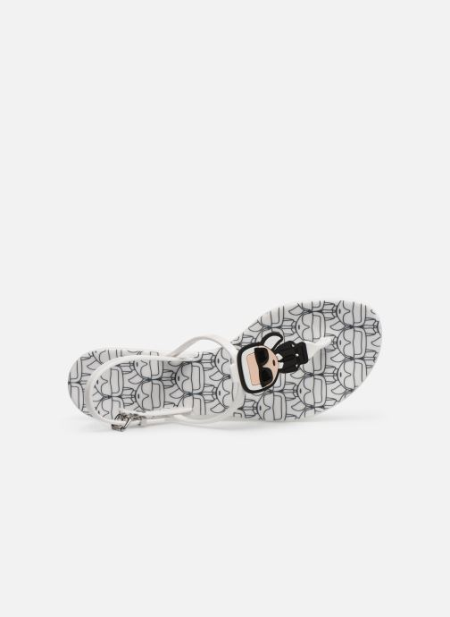 Sandals KARL LAGERFELD Jelly Karl Ikonic Sling II White view from the left