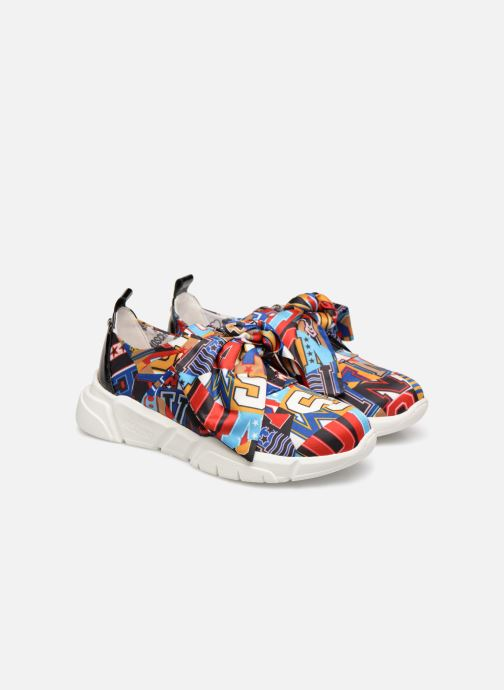 Trainers Love Moschino Nodo Running Multicolor 3/4 view