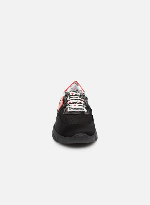Trainers Love Moschino Patch Heart Running Black model view